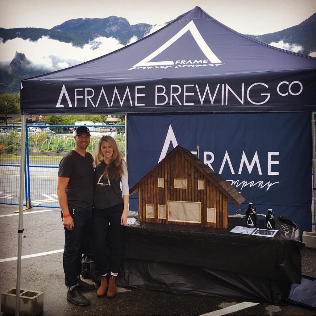 Jeff Oldenborger and his wife Caylin, A-Frame Brewing founders