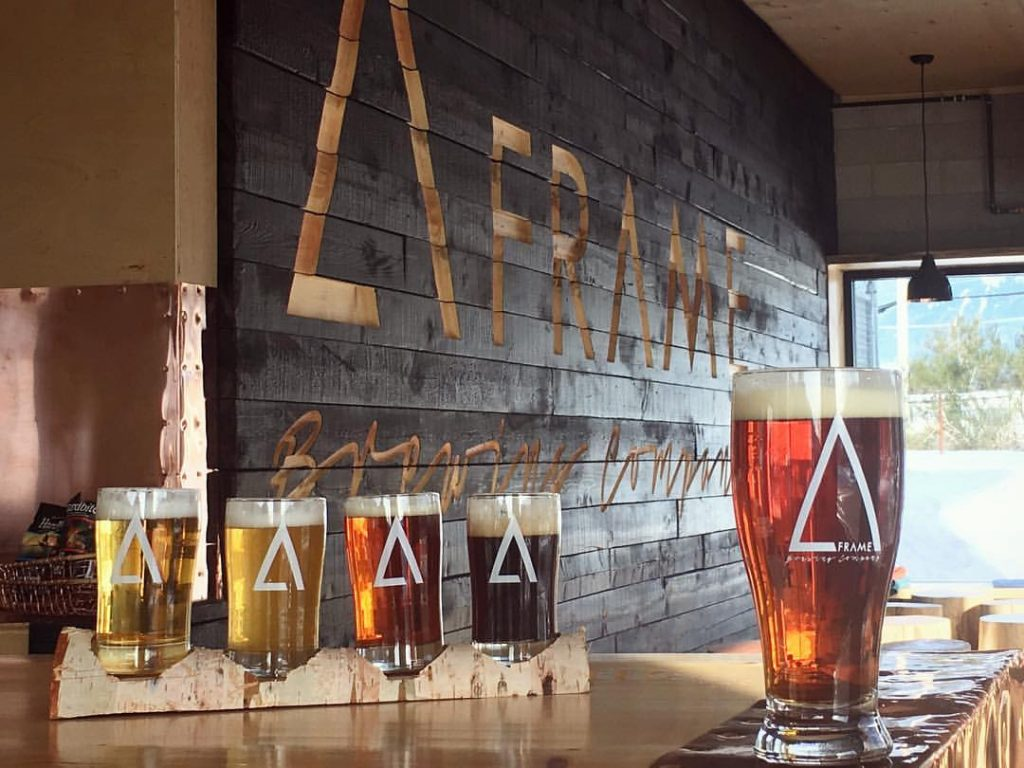 A-Frame Brewing Flight of beers