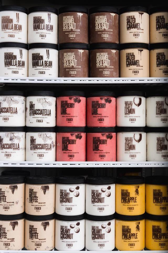 Fiasco Gelato on the shelves