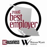 Best Company to Work For in BC (Winner 2006)