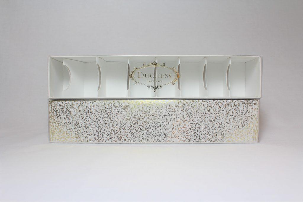 white macaron box set