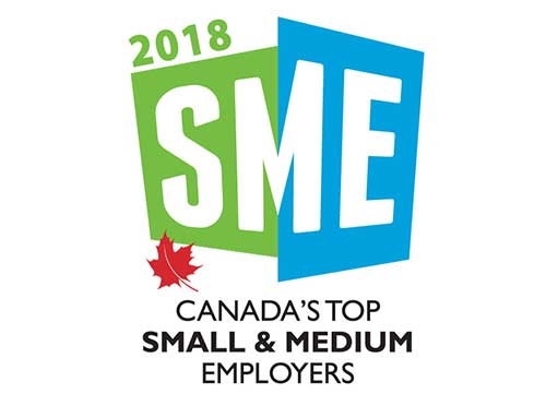Canada's Top Small & Medium Employers (2018, 2017, 2016, 2015, 2014, 2013, 2012, 2011, 2010, 2009, 2008, 2007, 2006, 2005)