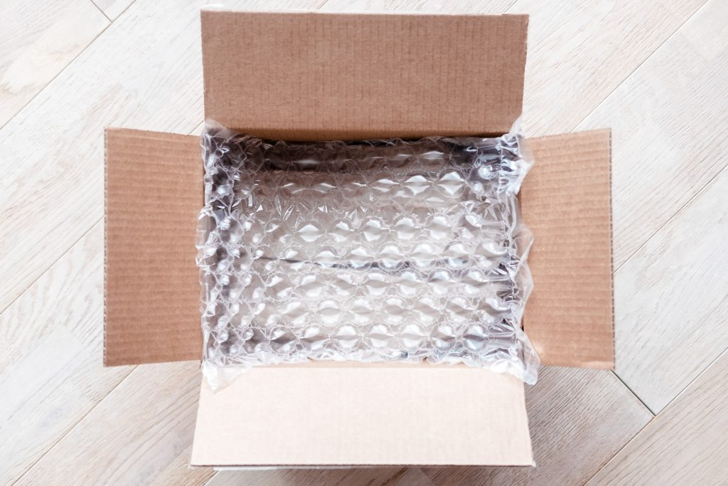 bubble wrap inside a box