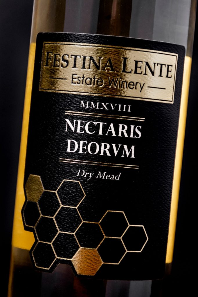 custom wine label made for festina lente winery