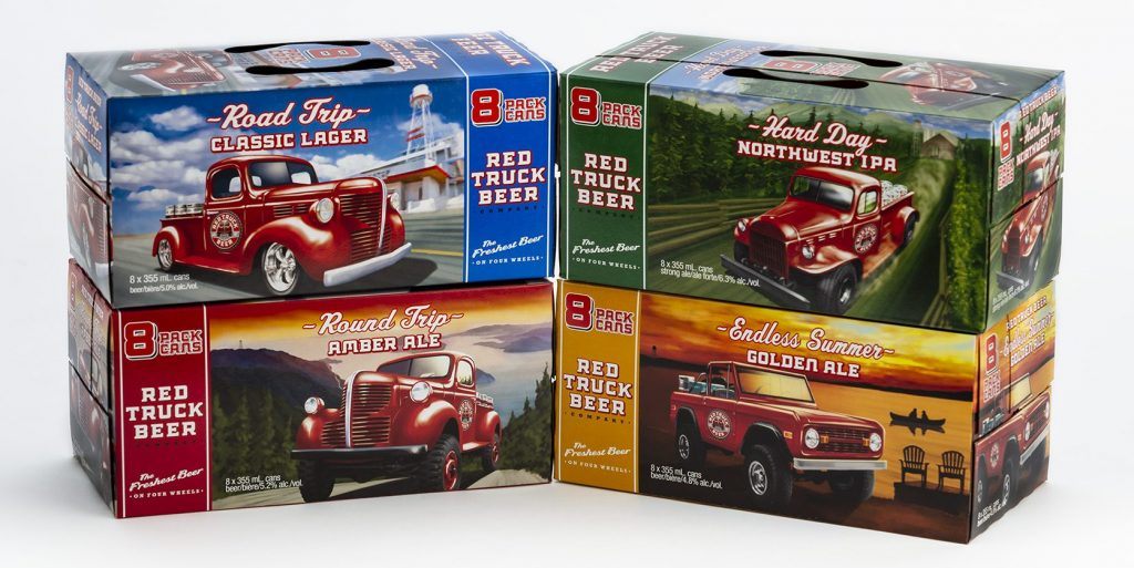 Red truck cases of beer