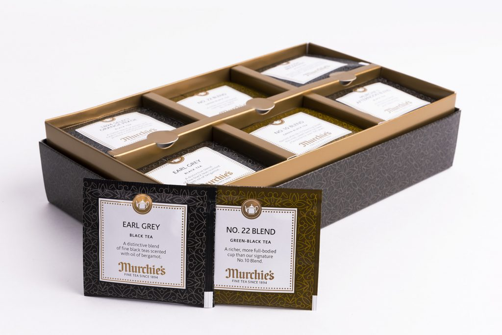 Murchies: Gift Box and Tea Wraps Manufactured by GLBC