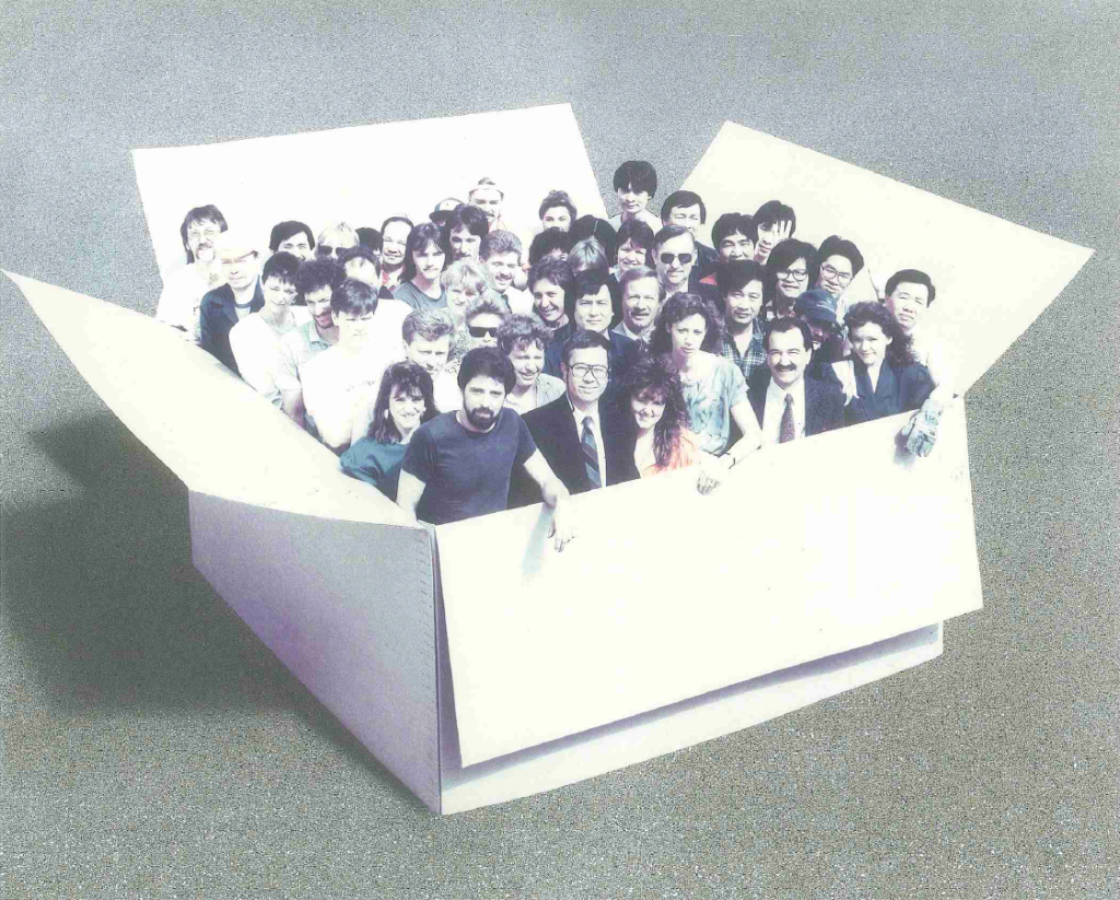 Great Little Box: First Employee Box Photo (1983) in Richmond, BC