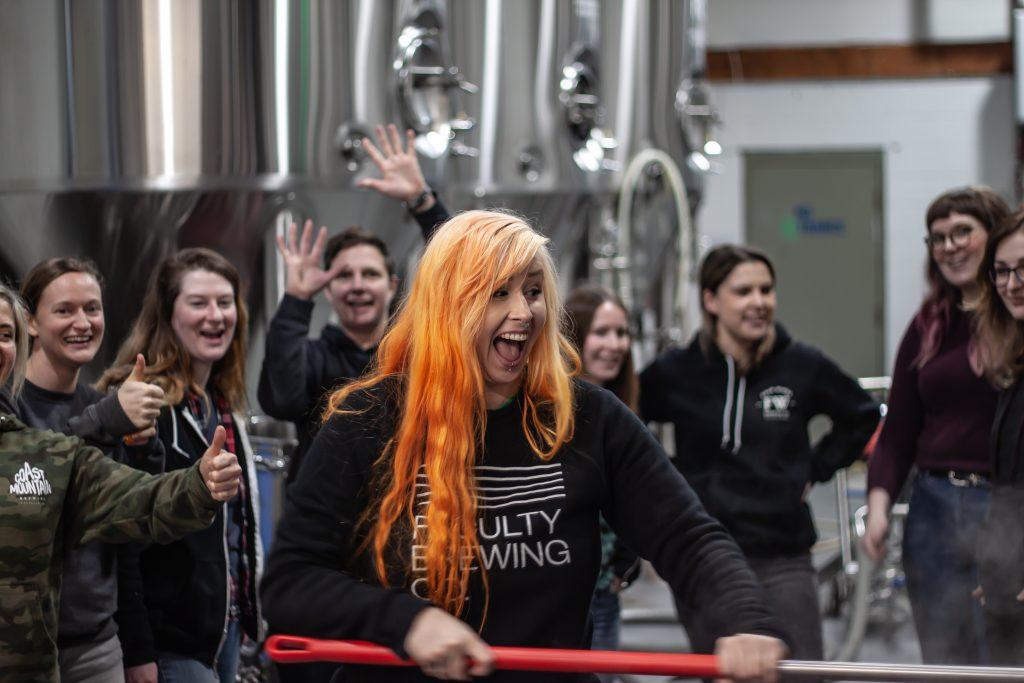 team of women from Metro Vancouver's craft beer industry cheering