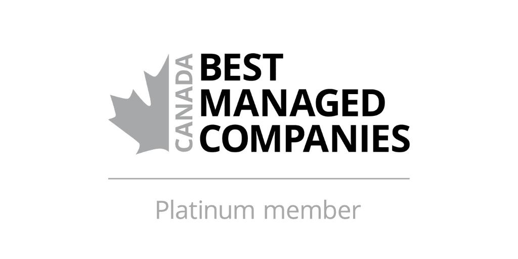 Canada best managed companies platinum member logo