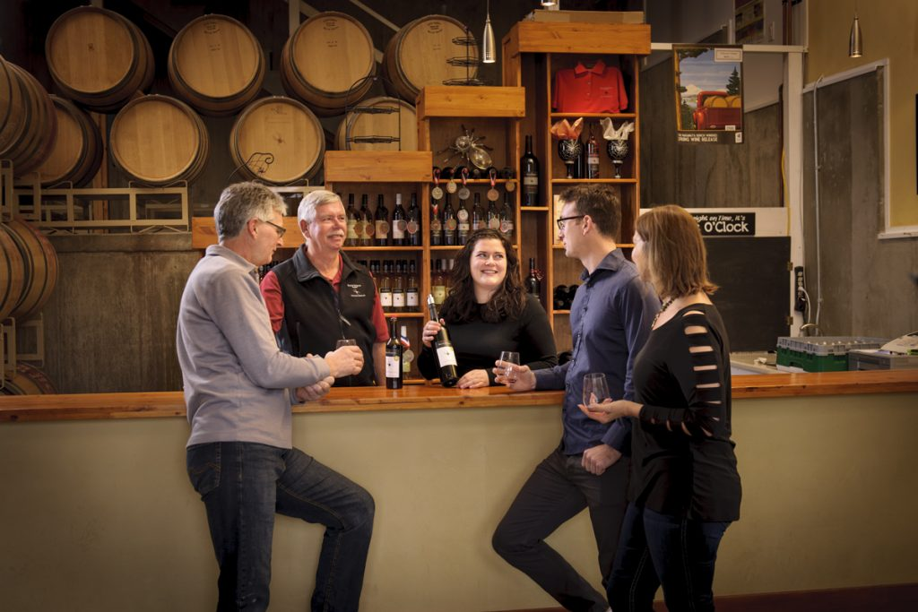 The Lancaster Family at the Black Widow Winery
