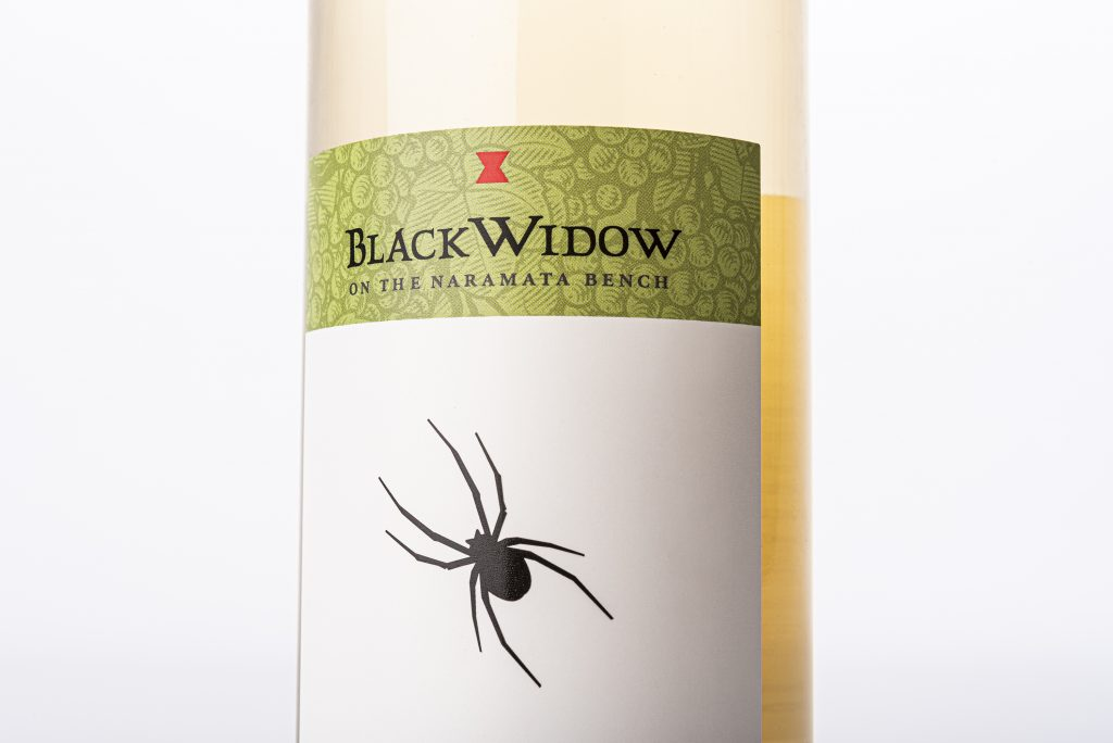 Black Widow Winery's Label Close-Up