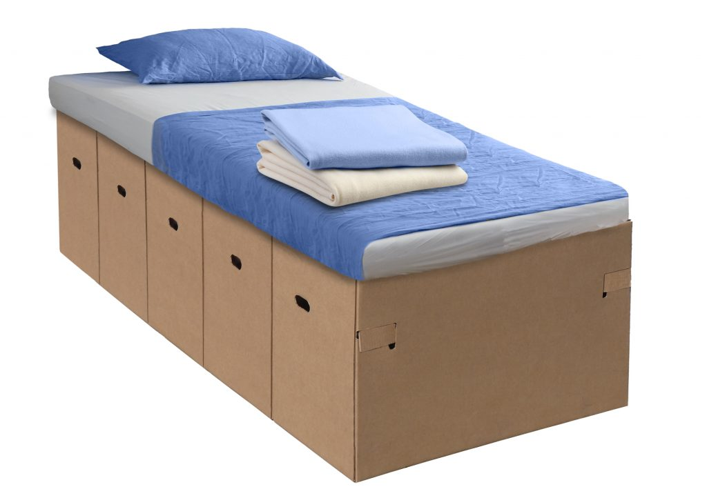 corrugated emergency hospital bed
