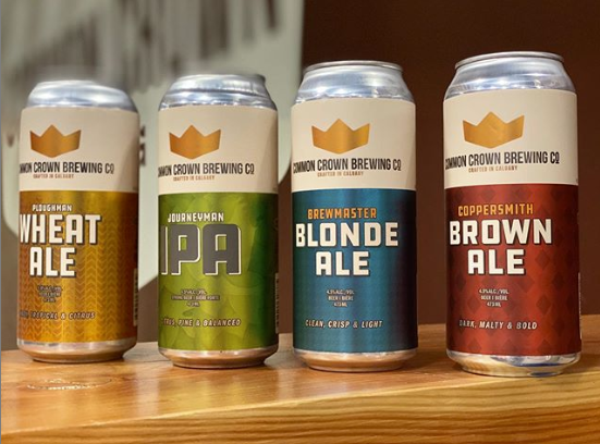 Beer Can Labels created for Common Crown Brewing Company