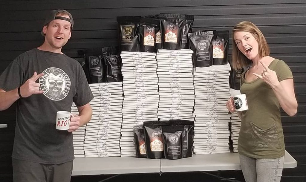 Rampage Coffee Co. Founders Dustin and Lauren