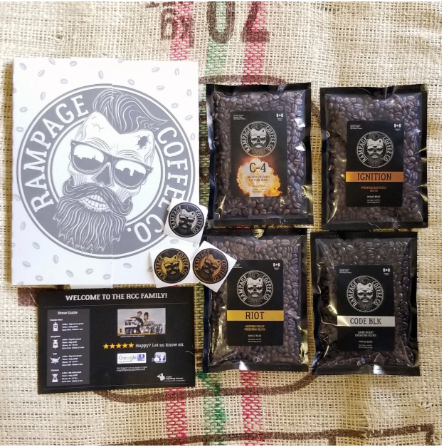 Rampage Coffee Co. Coffee bags