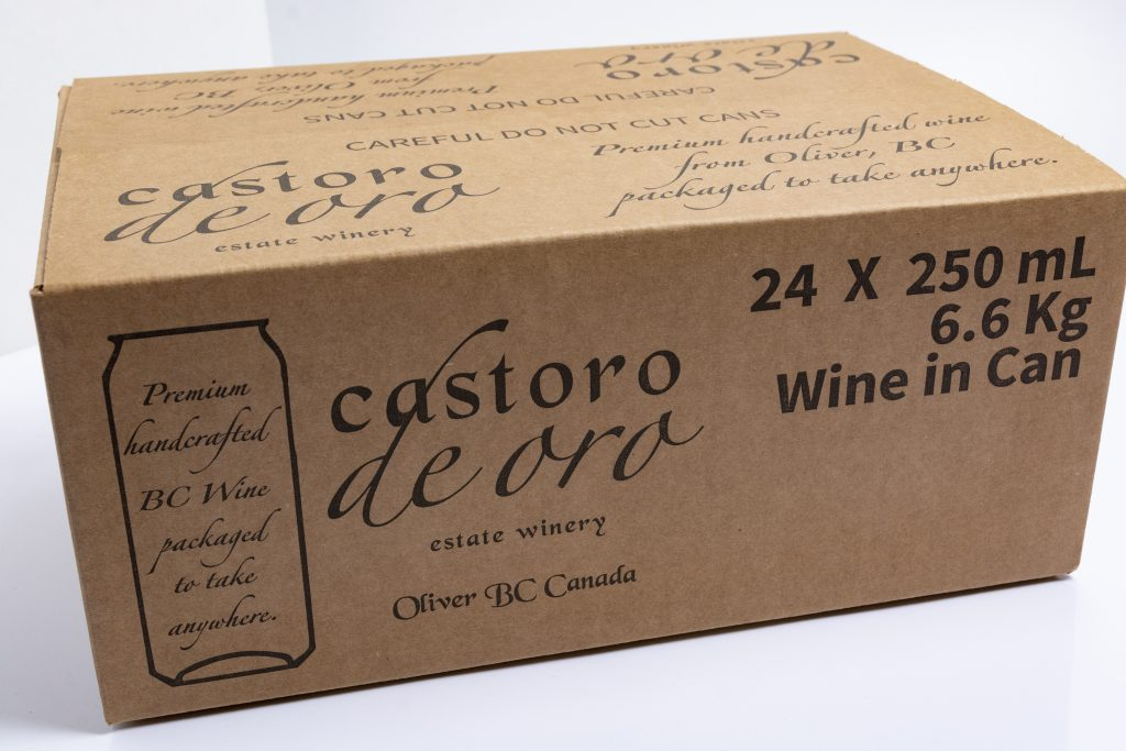 corrugated box for wine cans