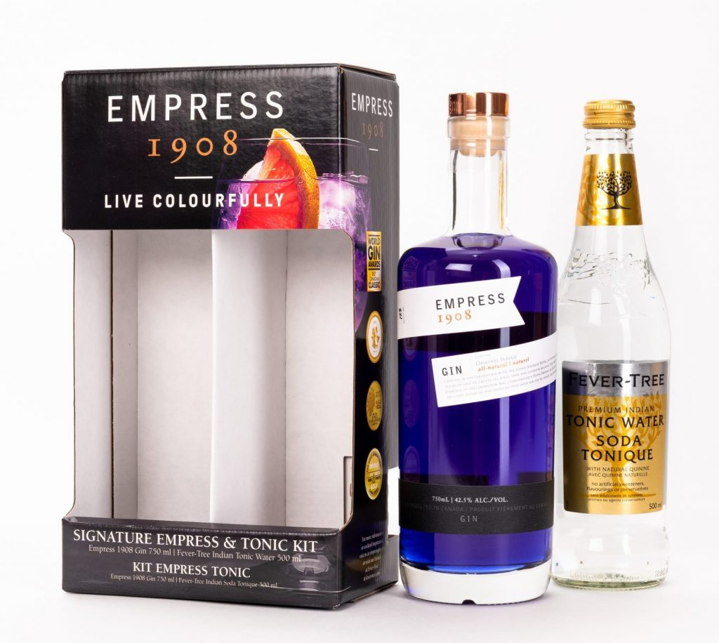 Victoria Distillers Empress 1908 Gin 2 pack kit packaging