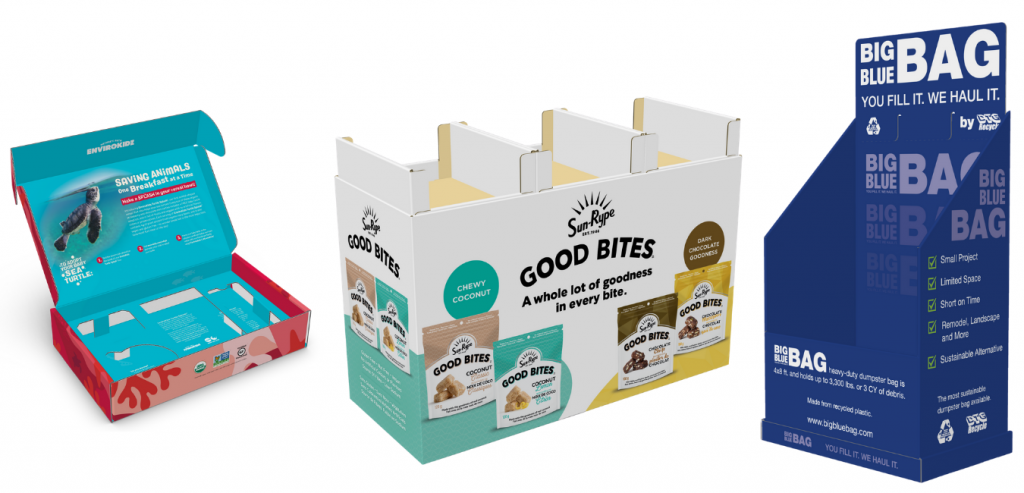 Examples of Digitally Printed Packaging Boxes and Displays