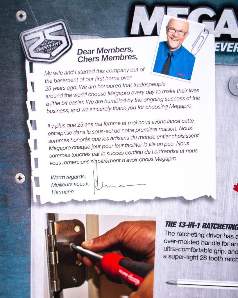 Megapro Tools - Founder Hermann Fruhm