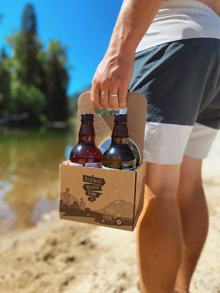 Scenic Road Cider - Corrugated 4 Pack Carrier