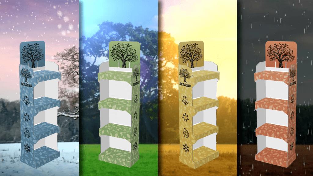 Seasonal Merchandising - Digitally Printed POP Displays