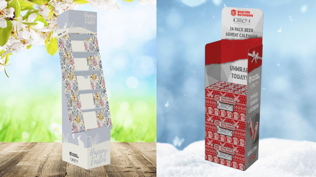 Seasonal Merchandising - Digitally Printed POP Easter and Christmas Displays