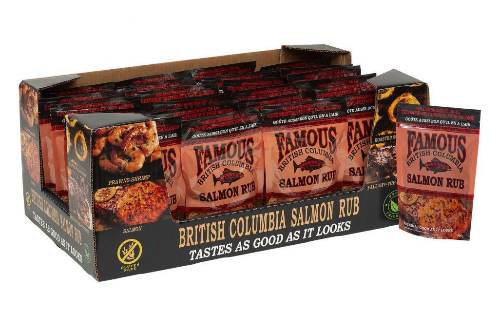 Howard's Foods Salmon Rub on Tray